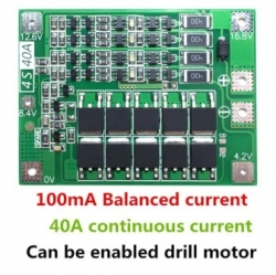 Электротовары ReYeBu 4S 40A Lithium Battery 18650 Charger PCB BMS Protection Board [32839009198]
