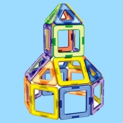 Магнитный Triangle And Square Magnetic Building Blocks Parts 3D Educational Toy [32882013374]